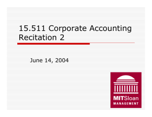 15.511 Corporate Accounting Recitation 2 June 14, 2004 1