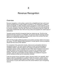 8 Revenue Recognition Overview