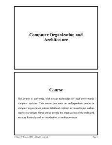 Computer Organization and Architecture Course