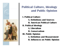 Political Culture, Ideology and Public Opinion