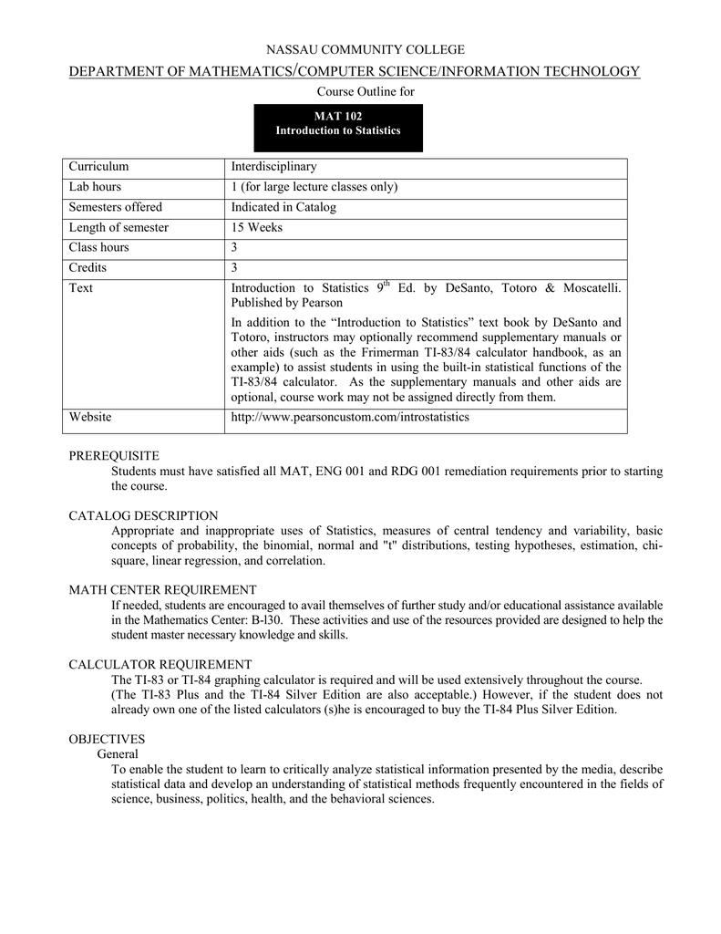 DEPARTMENT OF MATHEMATICS COMPUTER SCIENCE/INFORMATION
