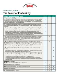 The Power of Probability Standards Chart, Grades 6–8 Statistics and Probability