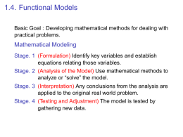 1.4. Functional Models Mathematical Modeling