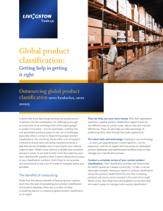 Global product classification: Outsourcing global product classification