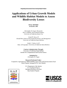 Applications of Urban Growth Models and Wildlife Habitat Models to Assess