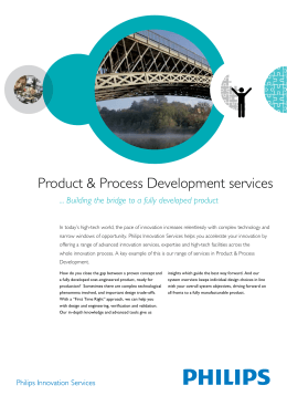 Product & Process Development services