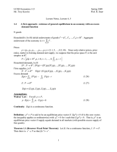 Lecture Notes, Lecture 4, 5 demand function