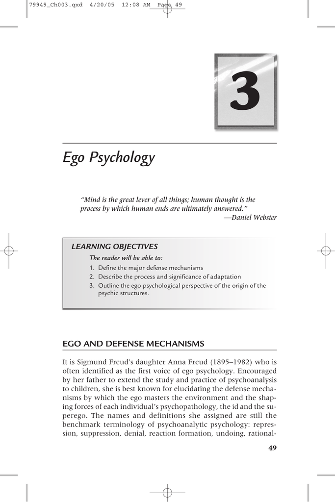 3 Ego Psychology