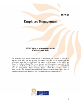 Employee Engagement WPS05 SIES College of Management Studies
