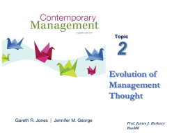 2 Evolution of Management Thought