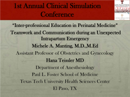 1st Annual Clinical Simulation Conference