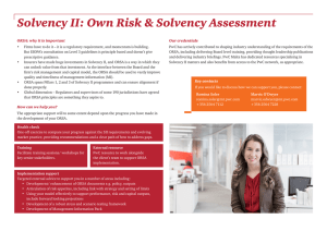 Solvency II: Own Risk & Solvency Assessment