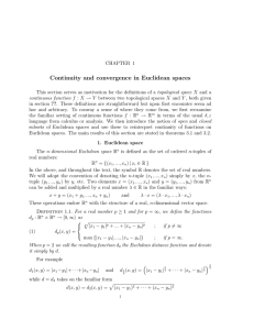 Continuity and convergence in Euclidean spaces