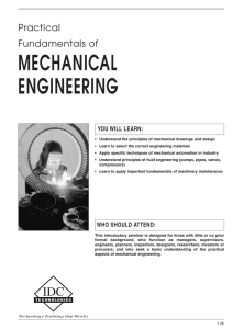 MECHANICAL ENGINEERING Practical Fundamentals of