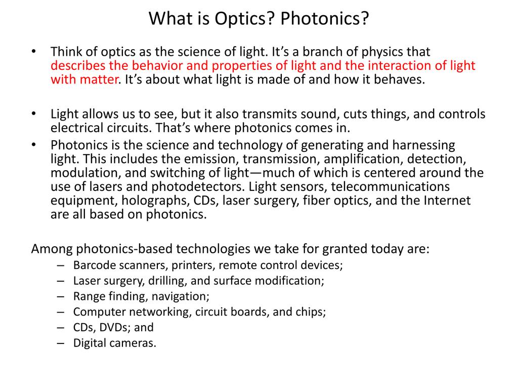 What is optics 36