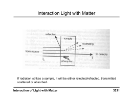 Interaction Light with Matter