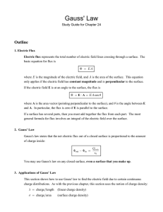 Gauss' Law Outline