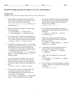 phy105s12-sample questions for chapters 22, 23, 24,  and 25-goderya