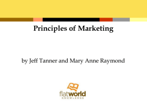 Principles of Marketing by Jeff Tanner and Mary Anne Raymond