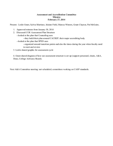 Assessment and Accreditation Committee Minutes February 27, 2014