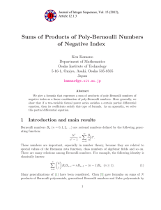 Sums of Products of Poly-Bernoulli Numbers of Negative Index