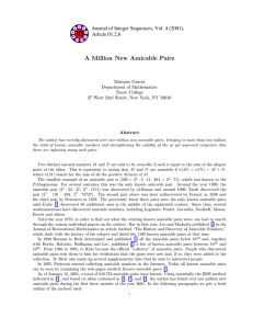 A Million New Amicable Pairs Article 01.2.6 Mariano Garcia
