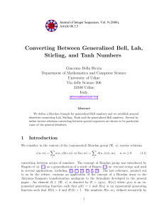 Converting Between Generalized Bell, Lah, Stirling, and Tanh Numbers