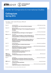 Colloquium Center for Comparative & International Studies Spring 2016