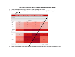 Instructions for Accessing General Education Outcome Reports with Tableau