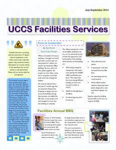 UCCS Facilities Services Time to Celebrate!