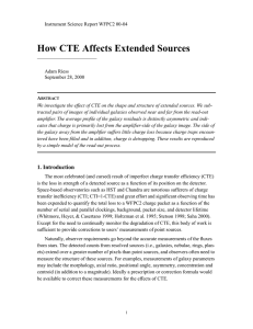 How CTE Affects Extended Sources