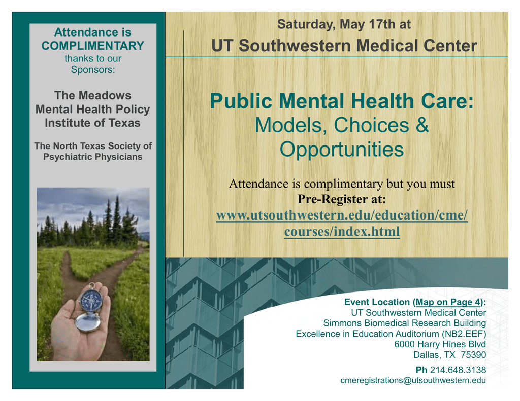 Public Mental Health Care: Models, Choices & Opportunities