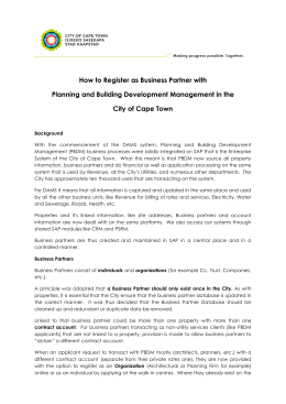 How to Register as Business Partner with City of Cape Town