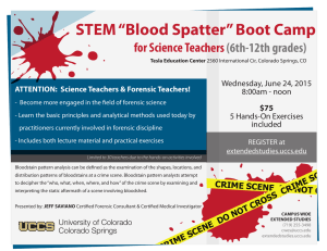 "STEM ""Blood Spatter"" Boot Camp for Science Teachers (6th-12th grades)"