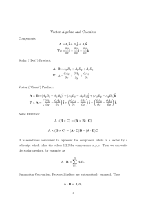 Vector Algebra and Calculus