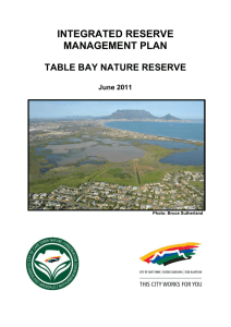 INTEGRATED RESERVE MANAGEMENT PLAN  TABLE BAY NATURE RESERVE