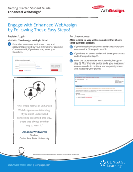 Engage with Enhanced WebAssign by Following These Easy Steps!