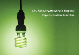 CFL Recovery, Recyling & Disposal Implementation Guideline