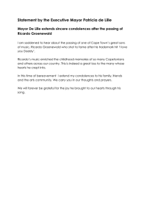 Statement by the Executive Mayor Patricia de Lille Ricardo Groenewald