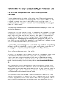 Statement by the City's Executive Mayor, Patricia de Lille  campaign