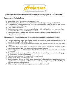Guidelines to be followed in submitting a research paper at... Requirements for Submission
