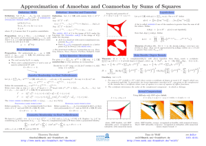 Approximation of Amoebas and Coamoebas by Sums of Squares Definition: SDPs