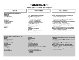 PUBLIC HEALTH What can I do with this major? STRATEGIES AREAS