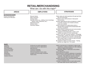 RETAIL/MERCHANDISING What can I do with this major? STRATEGIES AREAS