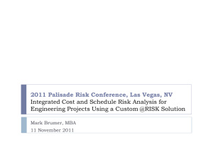 2011 Palisade Risk Conference, Las Vegas, NV