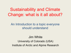 Sustainability and Climate Change: what is it all about?