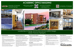 ACADEMIC OFFICE BUILDING LEED Gold certified