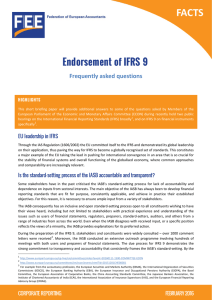 Endorsement of IFRS 9 Frequently asked questions  HIGHLIGHTS