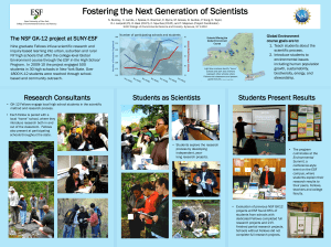 Fostering the Next Generation of Scientists