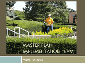 MASTER PLAN IMPLEMENTATION TEAM March 10, 2015